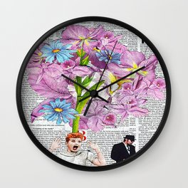 Lucy In The Sky With Brothers Wall Clock