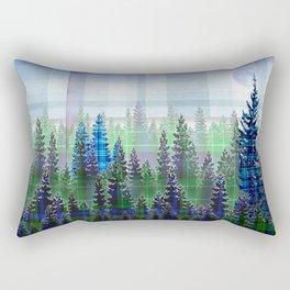 Plaid Forest Rectangular Pillow