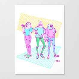 Girls in TShirts Canvas Print