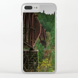 Abandoned Trestle Clear iPhone Case