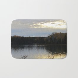 Downeast Autumn Reflections of Scattered Illuminations Bath Mat