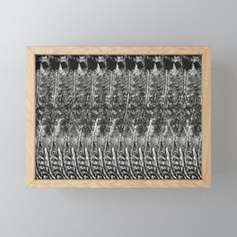 Feather Pattern | Black and White Framed Mini Art Print