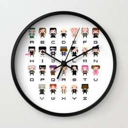 Harry Potter Alphabet Wall Clock