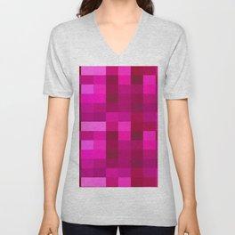 Pink Mosaic Unisex V-Neck