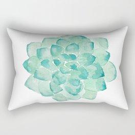 Watercolor Succulent print in seafoam green Rectangular Pillow