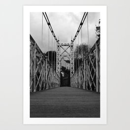 Bridge Crossing Art Print