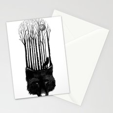 Wolf Barcode Stationery Cards