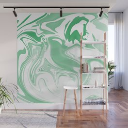 Green Abstract Ink Wall Mural