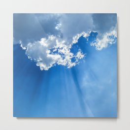 Silver lining cloud Metal Print