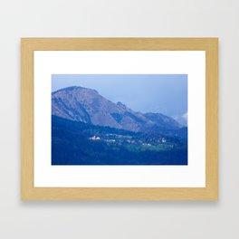 Mountain village Framed Art Print