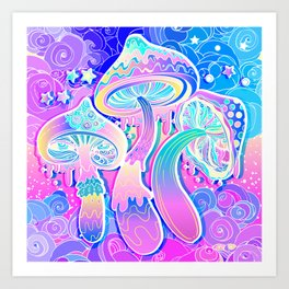 Magic Mushrooms Kunstdrucke