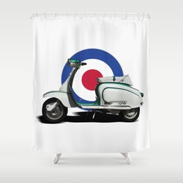 Mod scooter Shower Curtain