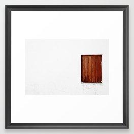 Cyprus Window Framed Art Print