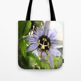 Purple Passionflower Tote Bag