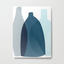 Glass vases Metal Print