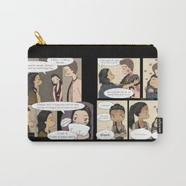 Angry Nasir, Fangirling Mira (Nagron, Spartacus) Carry-All Pouch