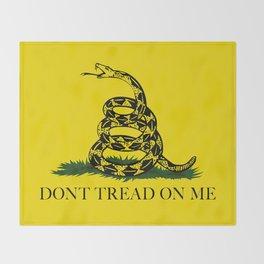 Gadsden Don't Tread On Me Flag Throw Blanket