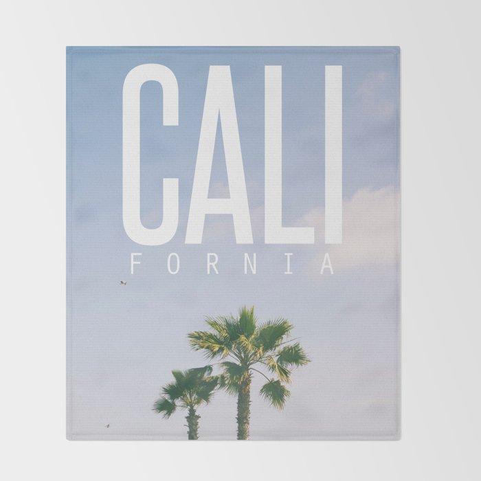 CALI FORNIA Throw Blanket