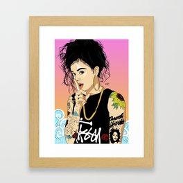 KEHLANI Framed Art Print