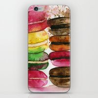 macarons iPhone & iPod Skins featuring macarons by Olga Gridneva