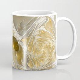 Golden, Abstract Fractal Art Coffee Mug