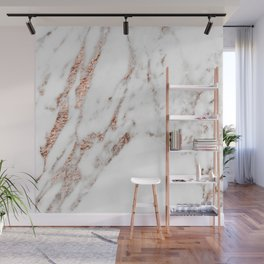 Rose gold foil marble Wall Mural