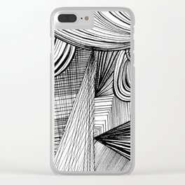 Overwhelmed Clear iPhone Case