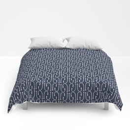 Fish Hooks in Navy Blue Comforters