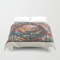 leo Duvet Covers featuring Leo by Heinz Aimer