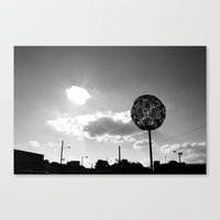 memphis Canvas Prints featuring Memphis by Curious Yellow