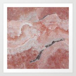 Light brown marble Art Print