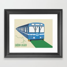 Gröna linjen Framed Art Print