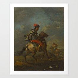 Manner of Francesco Giuseppe Casanova(Italian, 1727-1802)A Cossack on Horseback Art Print
