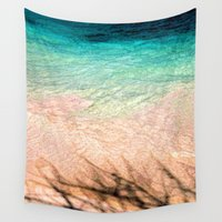 colombia Wall Tapestries featuring SEA AND TREE by Catspaws