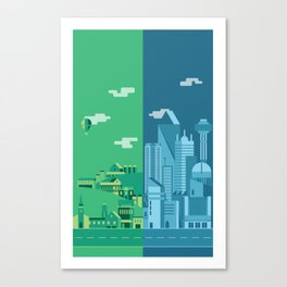 Foreign Cities Canvas Print