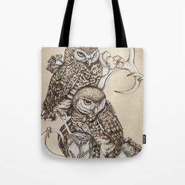 Duality - Two Burrowing Owls Tote Bag