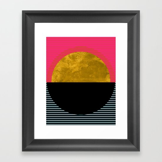 Abstract Sunset Framed Art Print