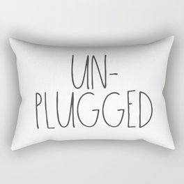 Unplugged Rectangular Pillow