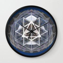 Merkaba Mandala Indigio Vision Print Wall Clock