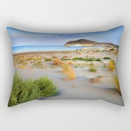 """Genoveses Beach"" Sunset at beach Rectangular Pillow"