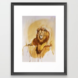 Lazy Leo Framed Art Print