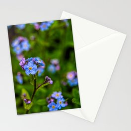Forget-me-nots In The Rain Stationery Cards