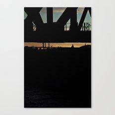 Man on the Bridge - Los Angeles #42 Canvas Print