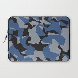 Camouflage Splinter Pattern Blue Laptop Sleeve