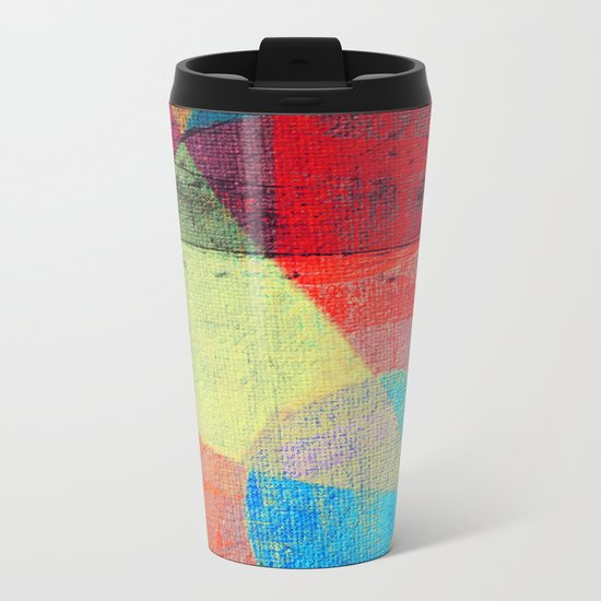 Beach Volleyball Metal Travel Mug