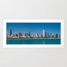 Chicago Skyline Panorama Art Print