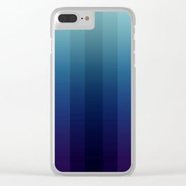 Steps 2-Blue Ombre Clear iPhone Case