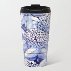 Floral tiles Metal Travel Mug