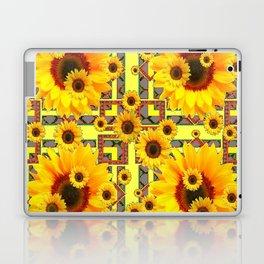 KANSAS WESTERN STYLE YELLOW SUNFLOWER FLORAL Laptop & iPad Skin