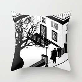 The Exorcist (poster adaption) Throw Pillow